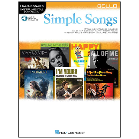 Simple Songs for Cello – 14 bekannte Melodien (+Online Audio)