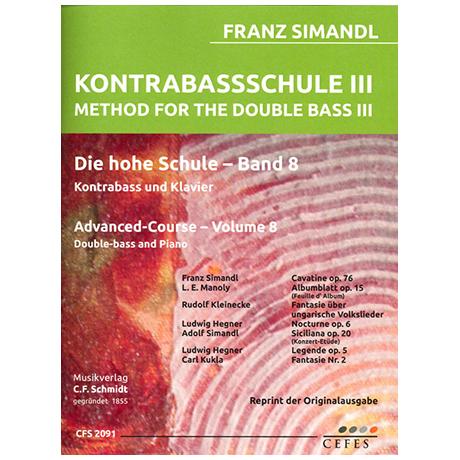 Simandl, F.: Kontrabassschule III – Die hohe Schule Band 8