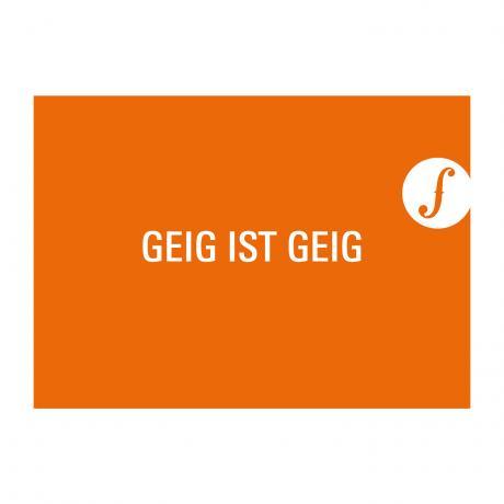 Carte postale GEIG IST GEIG