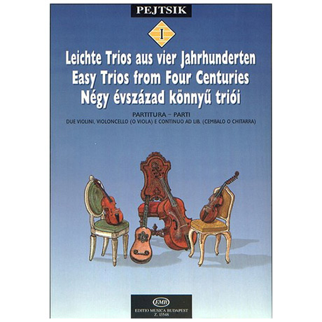 Pejtsik, A.: Leichte Trios aus 4 Jahrhunderten Band 1