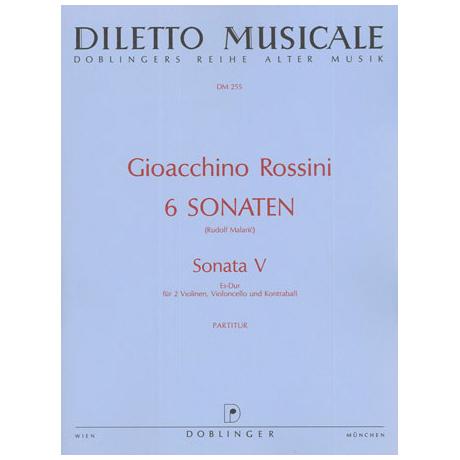 Rossini, G. A.: Sonata Nr. 5 Es-Dur – Partitur