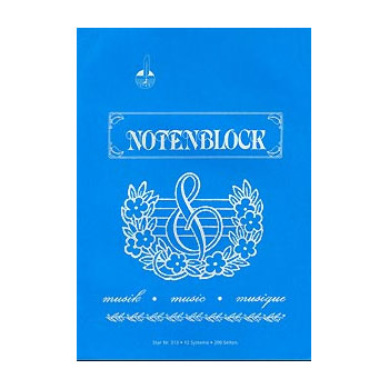 STAR Papier à musique cahier d'esquisses DIN A4 format portrait