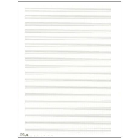 Papier à musique double feuille 255x340 mm