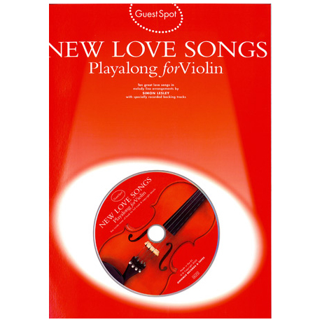 New Love Songs Playalong For Violin (+CD)