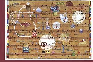 Carte postale art, cantate café