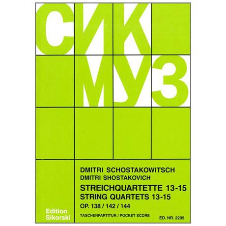 Shostakovich, D.: String Quartets Nos. 13-15