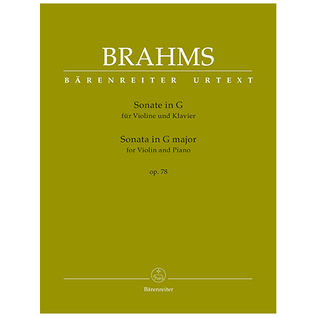 Brahms, J.: Violinsonata Op. 78 G major