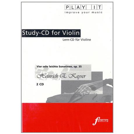 Kayser, H.E.: Vier sehr leichte Sonatinen Op. 35 2 Play-Along-CDs