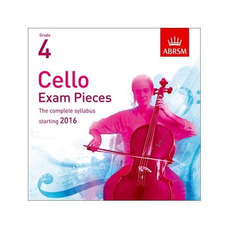 ABRSM: Cello Exam Pieces Grade 4 (2016-2019) CD
