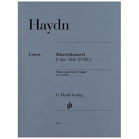Haydn, J.: Klavierkonzert Hob. XVIII:3 F-Dur