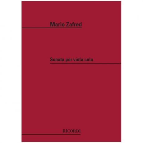 Zafred, M.: Sonata per Viola Sola (1970)
