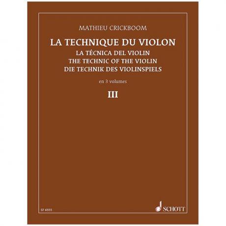 Crickboom, M.: Die Technik des Violinspiels Band 3