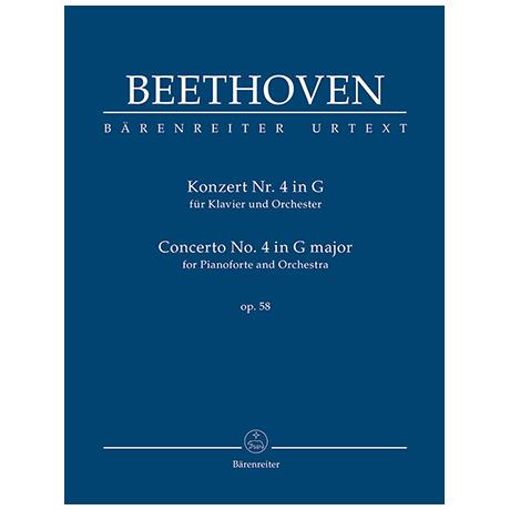 Beethoven, L. v.: Konzert für Klavier und Orchester Nr. 4 G-Dur Op. 58