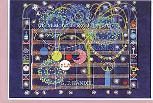 Carte postale art, musique de feu d'artifice