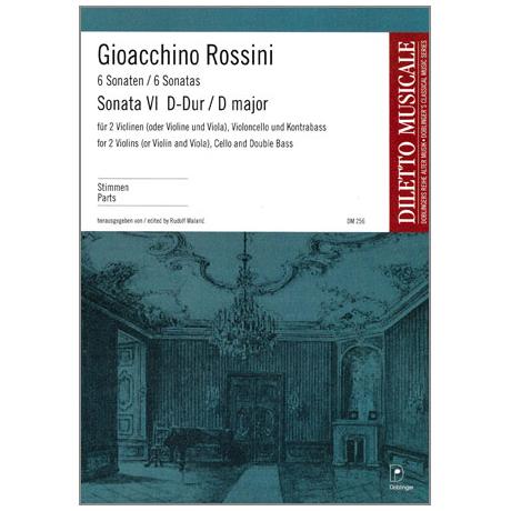 Rossini, G. A.: Sonata Nr. 6 G-Dur – Stimmen