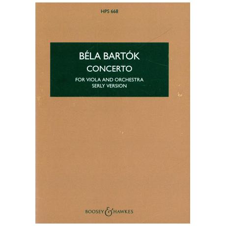Bartók, B.: Violakonzert op. posth. (Serly)