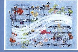 Carte postale d'art «Musique de l'eau«