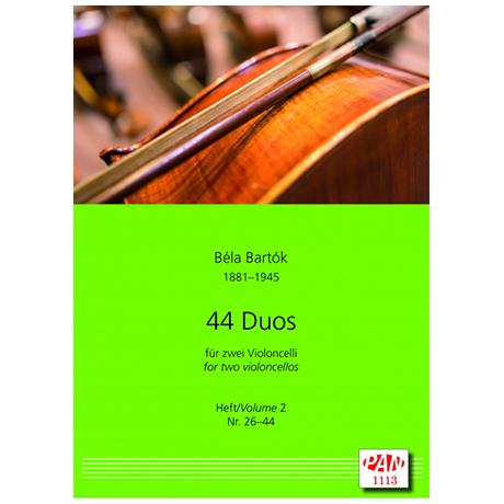 Bartók, B.: 44 Celloduos Band 2 (Nr. 26-44)