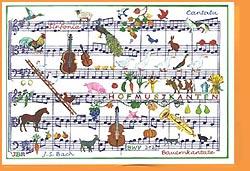 Carte postale art, cantate de paysan