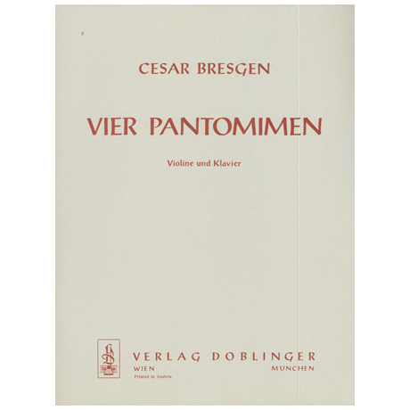 Bresgen, C.: 4 Pantomimen