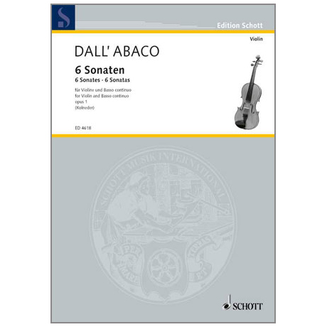 Dall'Abaco, E. F.: 6 Sonaten Op. 1