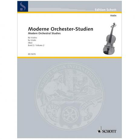 Moderne Orchester-Studien für Violine Band 2