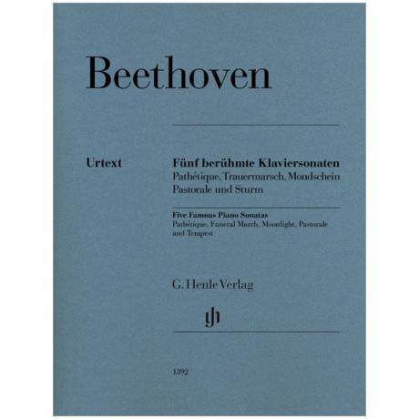Beethoven, L. v.: 5 berühmte Klaviersonaten Op. 13, 26, 27/2, 28, 31/2