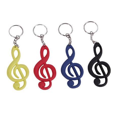 Porte-clés clé de musique