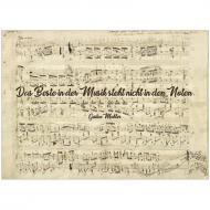 Postkarte »Das Beste in der Musik steht nicht in den Noten« (Mahler)