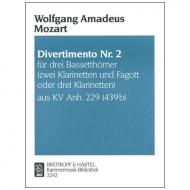 Mozart, W. A.: Divertimento Nr. 2 KV Anh. 229 (439b) B-Dur