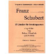 Schubert, F.: 15 Ländler für Streichquartett
