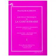 Rabbath, F.: Nouvelle technique de la contrebasse Vol.1 (+ CD)