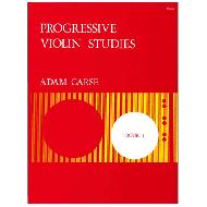 Carse, A.: Progressive Violin Studies – Book 1