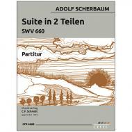 Scherbaum, A.: Suite in 2 Teilen SWV 660 für Kontrabass und Streichorchester