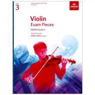 ABRSM: Violin Exam Pieces Grade 3 (2020-2023)