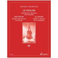 Crickboom, M.: Le Violon – Théorique et pratique Vol. 4