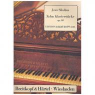 Sibelius, J.: Zehn Klavierstücke Op. 58
