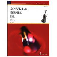 Schradieck, H.: 25 Studien Op. 1