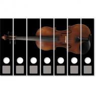 Autocollants classeurs violon