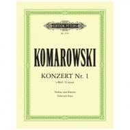 Komarowski, A.: Violinkonzert Nr. 1 e-Moll