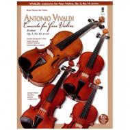 Vivaldi: Concerto for four Violins (+Online Audio)