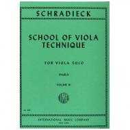 Schradieck, H.: Schule der Viola-Technik Band 3