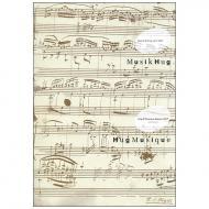 Papier à musique bloc-notes