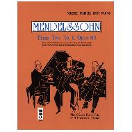 Mendelssohn, F.: Klaviertrio Op. 66 Nr. 2 c-moll (+CD)
