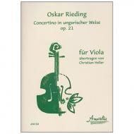 Rieding, O.: Concertino Op. 21 a-Moll »In ungarischer Weise« – Violastimme