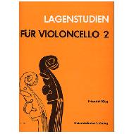 Klug, F.: Lagenstudien für Violoncello, Bd 2