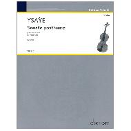 Ysaÿe, E.: Sonate posthume Op. 27bis