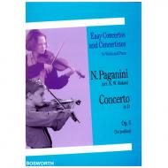 Paganini, N.: Violinkonzert Op. 6 D-Dur
