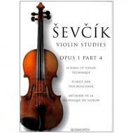 Sevcik, O.: Schule der Violintechnik Op. 1, Heft 4