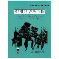 Mendelssohn, F.: Klaviertrio Op. 49 Nr. 1 d-moll (+CD)